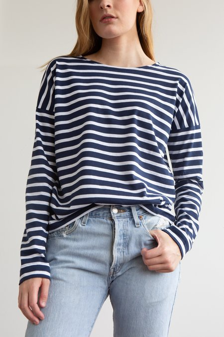 Saint James Minquiers Breton - Navy/White