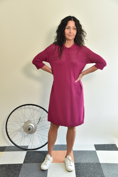 Nice Things Polo Dress - fuchsia