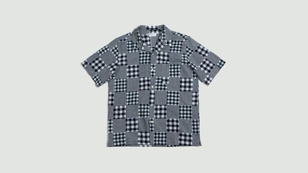 814c463016e287 Universal Works Patchwork Madras Road Shirt - Blue/White ...