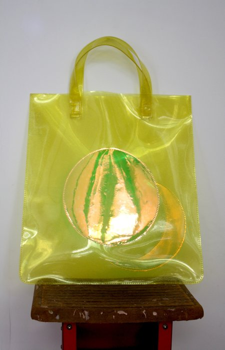 CAB Collection Transparent Moon Tote - Heavy Yellow Glitter