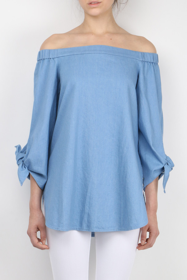 Neo Twill Off Shoulder Tunic