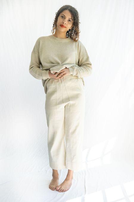 Lauren Manoogian Folk Crew Neck Sweater - Natural