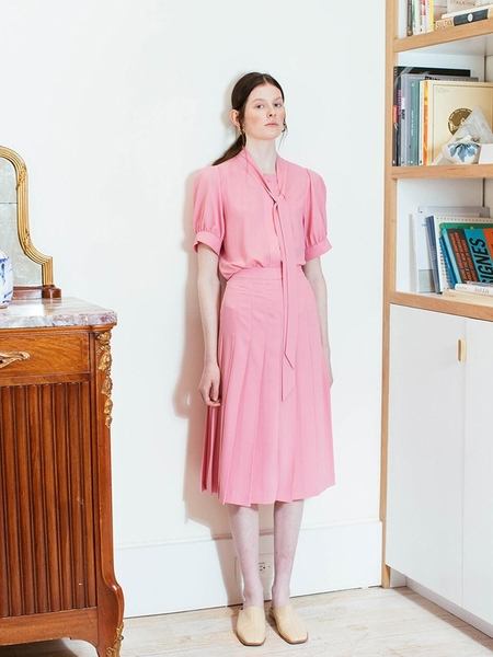 80de7d2ffc ... AND YOU Napoli Short Sleeve Tie Blouse - Raspberry