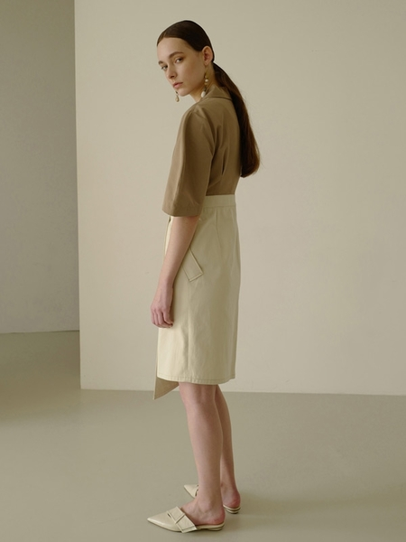 Andersson Bell Sophia Tailored Dress - Beige