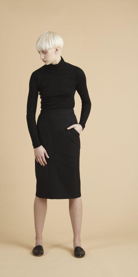 SCHAI Column Slim Skirt - Granite