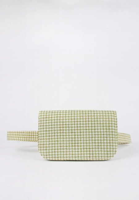 Jaggar Belt Bag - sage houndstooth