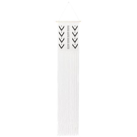 Sidai Designs Long Dotted V Wall Hanging - Black/White
