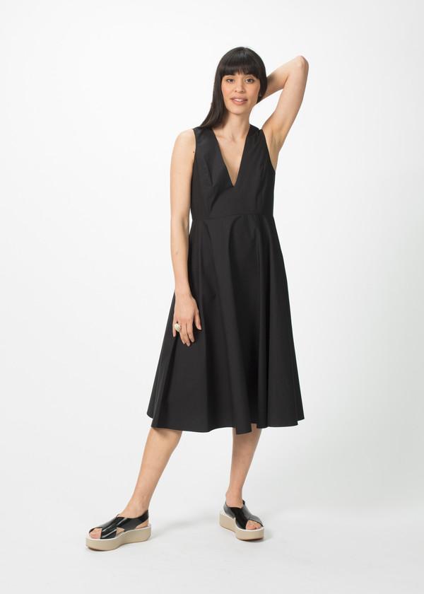 Organic by John Patrick V-Neck Full Skirt Dress