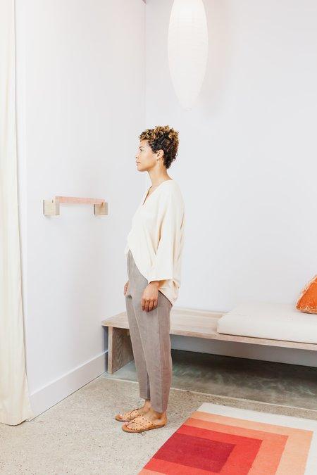 Miranda Bennett Linen Hadid Pant (Petite) - Acacia Iron V.I