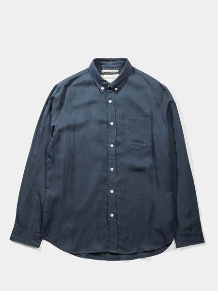 Native North Japanese Linen Tencel Shirt - Blue