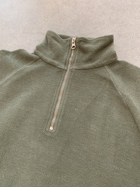 Les Basics Le Zip Toggle Sweat - Army
