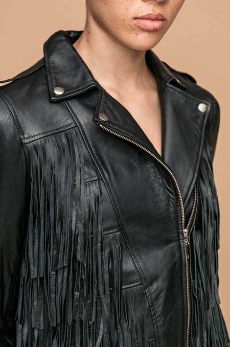 House of Matching Colors WATERFALL JACKET - black