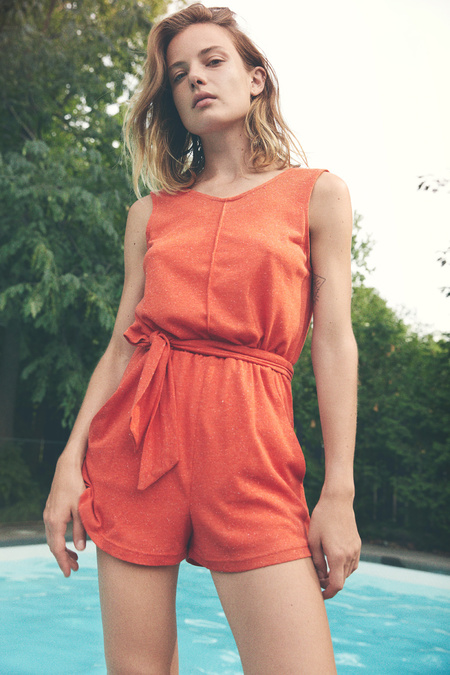 Eve Gravel Andalusia Jumpsuit - Tomato