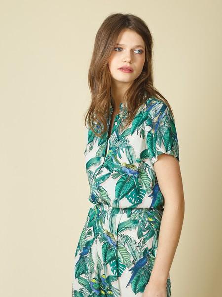 Indi & Cold Loose Shirt - Tropical Print