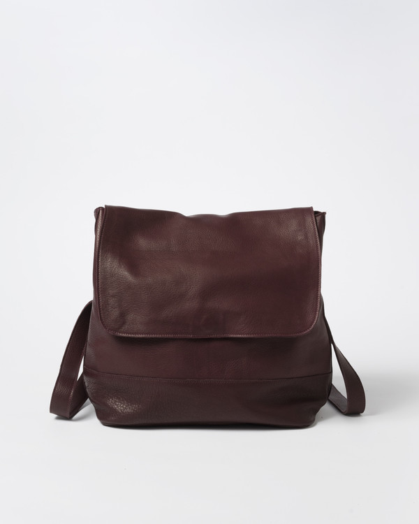 Clyde Room Backpack in Ox Blood Leather