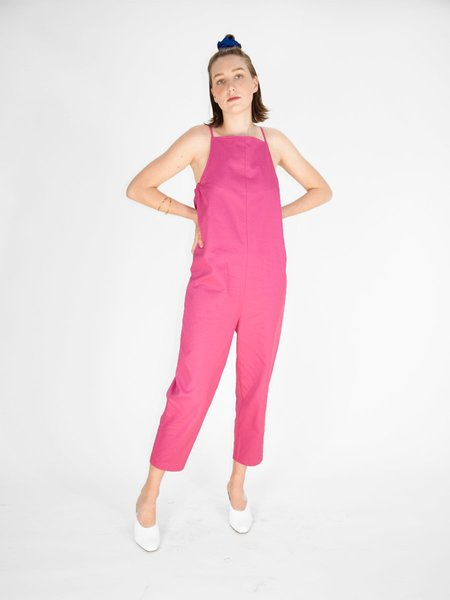 Beth Yard Twill Jumpsuit - Raspberry