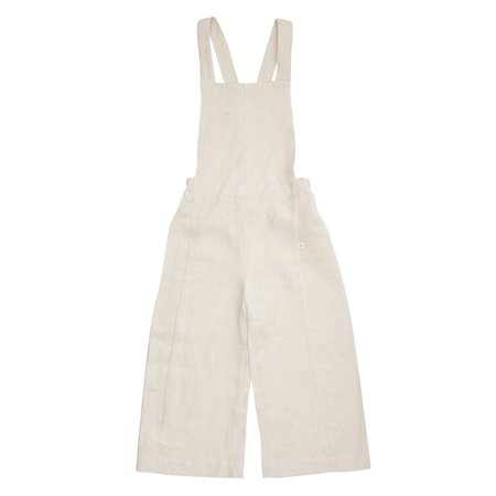 KIDS Bacabuche Linen Overalls - Oat