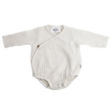 KIDS Moumout Paris Flora Muslin Bodysuit - Milk White