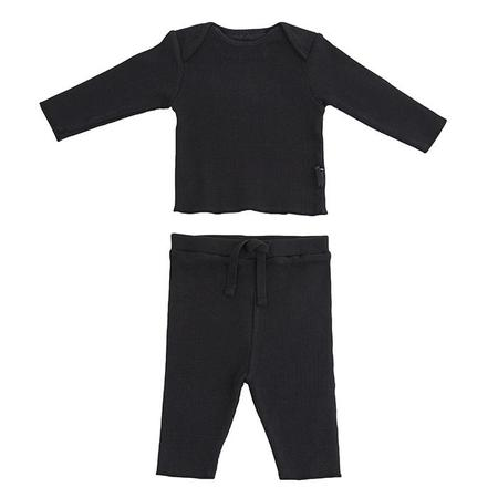KIDS Moumout Paris Baby Two Piece Set Twins Long Sleeved T-shirt And Leggings - Ink Black