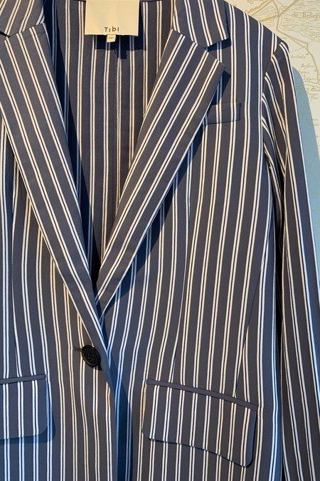 Tibi Twill Oversized Blazer - Stripe