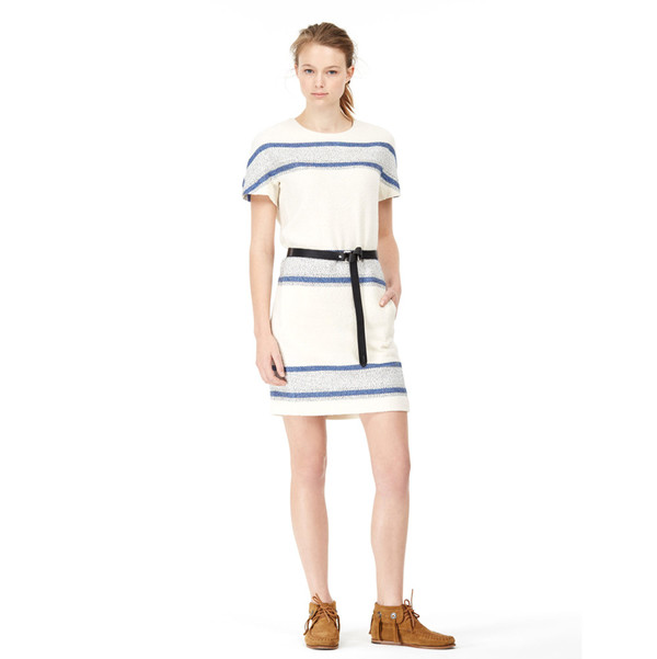 closed striped dress