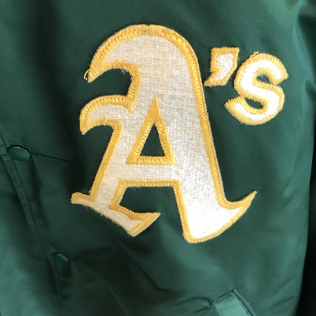 Vintage Satin Starter Oakland Athletics Jacket - Green