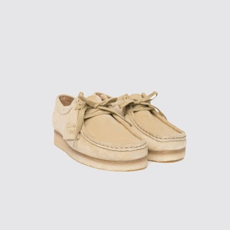 Clarks Wallabee Suede Oxford - Maple