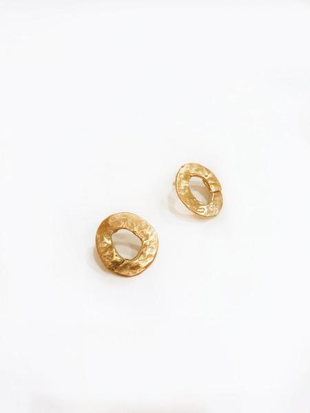 8.6.4 EA-TS-11 round earrings - Gold