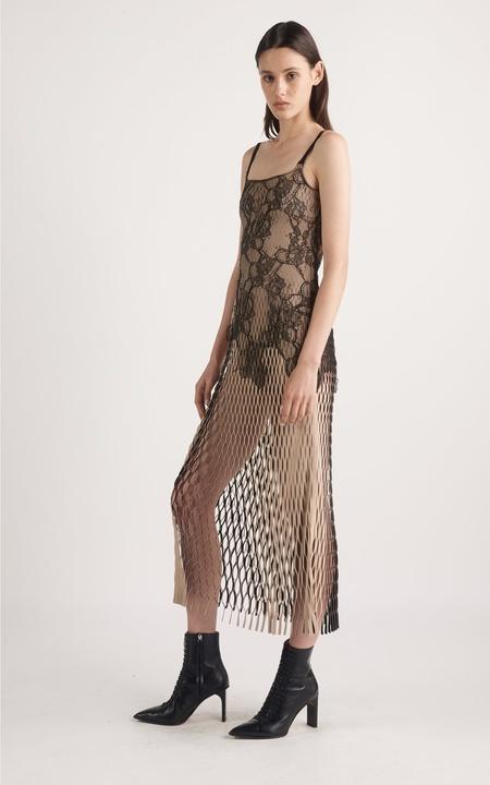 Dion Lee Erosion Lace E-Hook Dress - Sand