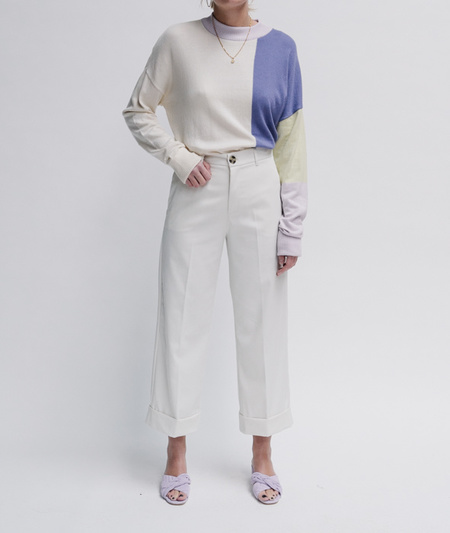 Valentine Witmeur Lab Leftist Sweater - Off White/Colorblock