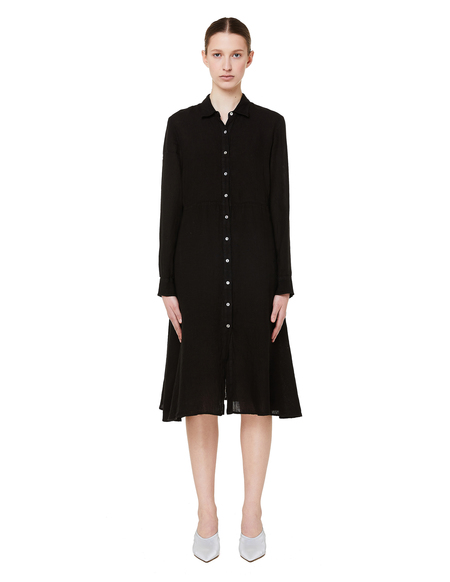 120% Lino Linen Dress - Black