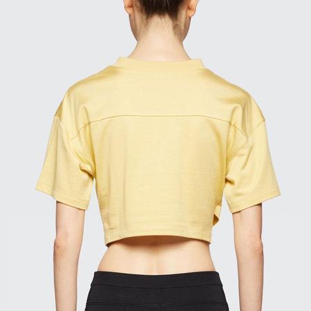 ALEXANDER WANG Crop V-Neck Tee - yellow