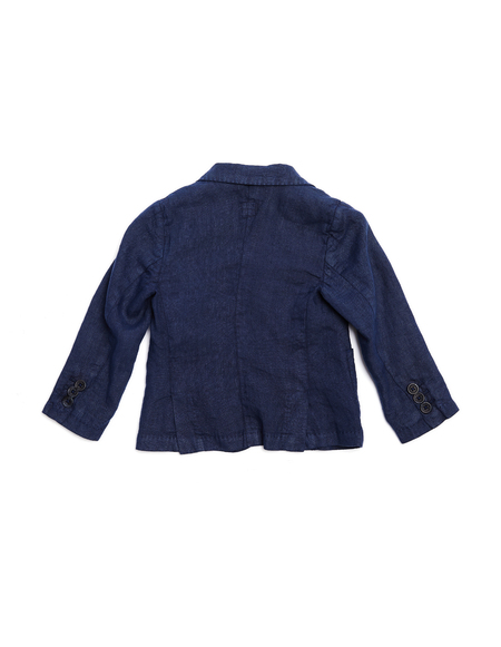 Kids 120% Lino Linen Jacket - Blue