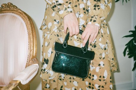 Maryam Nassir Zadeh Lune Bag - Dark Lagoon Glitter