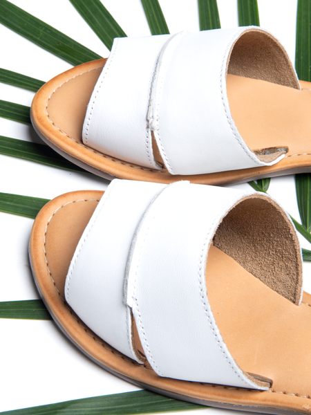 BLNC Ankle Strap Sandal CB - White/Navy