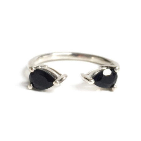 Tarin Thomas Madison Silver and Black Onyx Ring