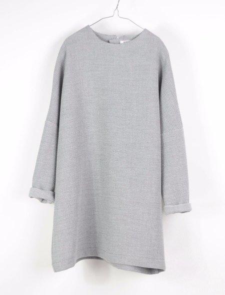 Kids Motoreta Aguadulce Long Sleeve Dress - Grey