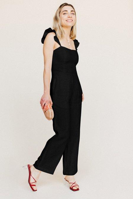 BETWEEN TEN Linen Piper Jumpsuit - Black