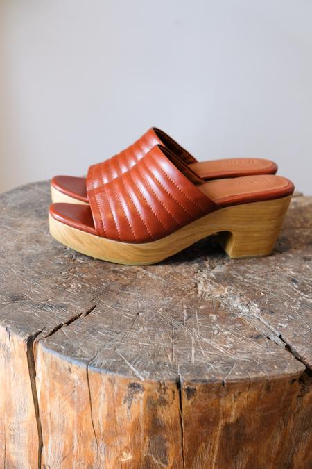 Beklina Ribble Clog Open Toe - Wet Clay
