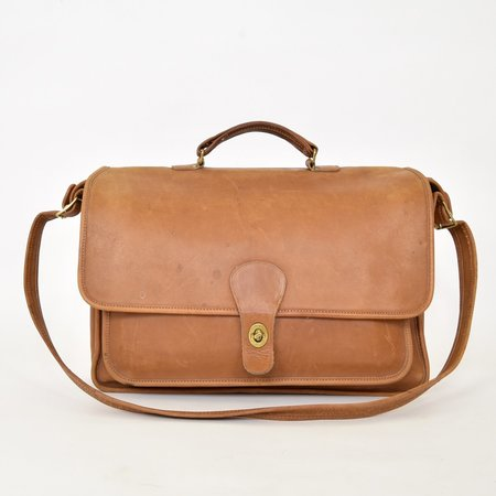 Vintage COACH Distressed Attaché - Brown