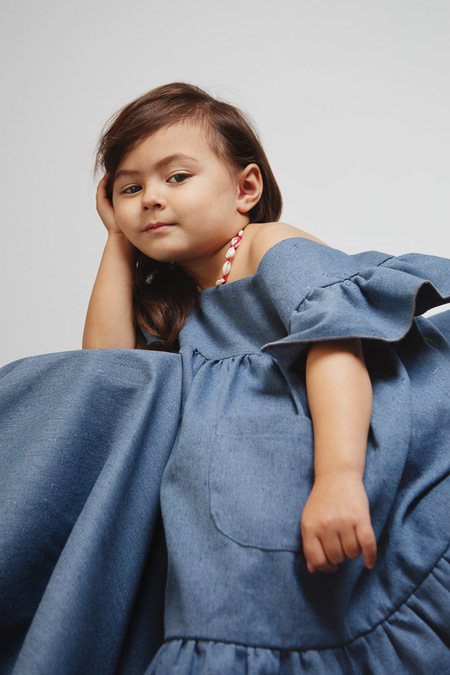 Kids Kiboro Sant'Angelo dress - blue