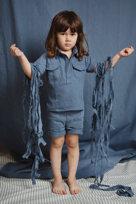 Kids Kiboro Mahalo shirt - blue