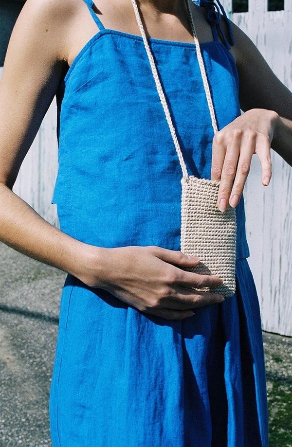 Lauren Manoogian Crochet Pouch - crudo