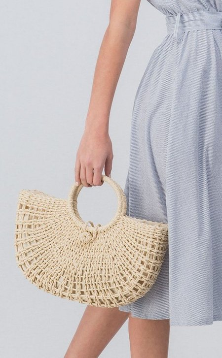 Ellison Jute Summer Basket Bag - natural
