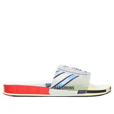 Adidas Raf Simons Micro Adilette Slides - White