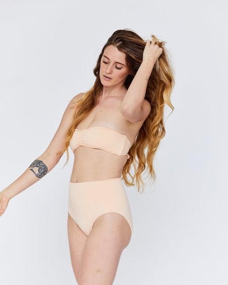 Esby Audrey Bandeau Top - Pearl