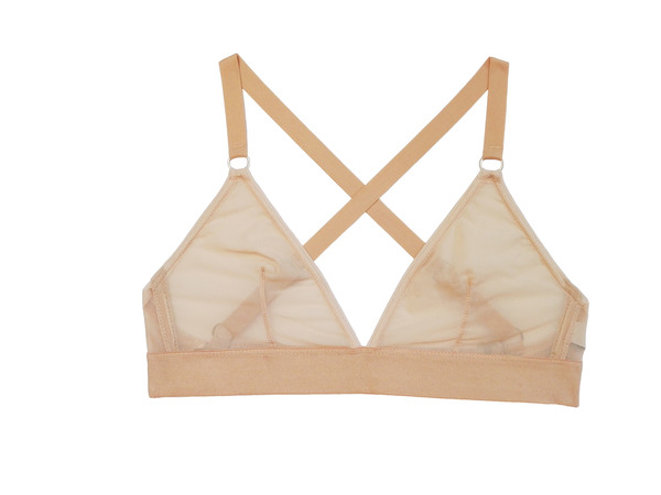 The Nude Label Triangle Crossback Bra- Sheer Nude