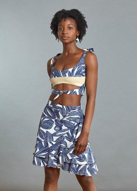 Loza Maleombho Skirt - Blue Leaf