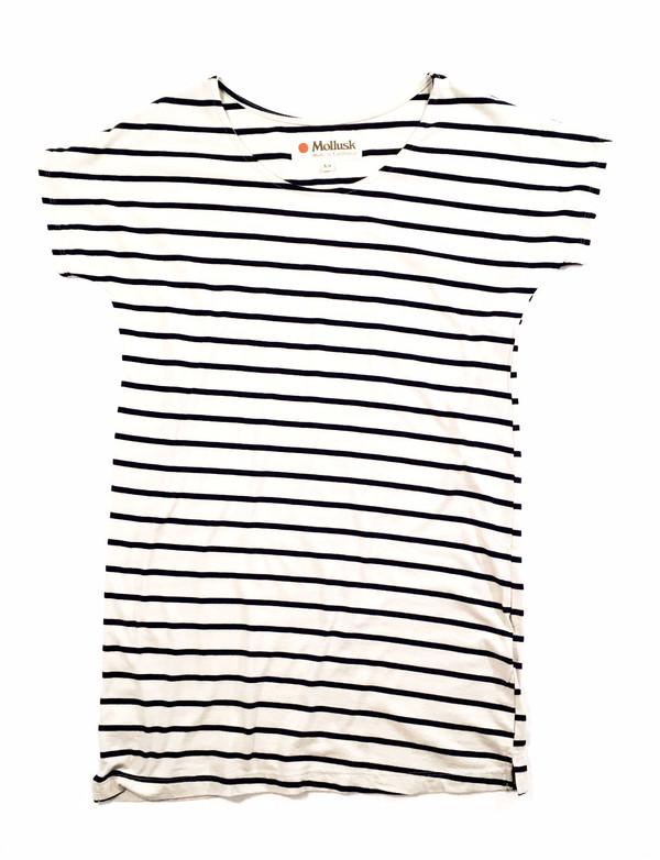 Mollusk Stripe Mini Dress Fog/Navy