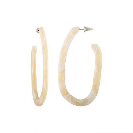 Machete Margot X Hoop Earrings - IVORY